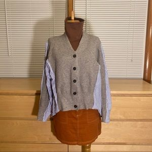 Jackets & Blazers - front sweater back shirt high low cardigan